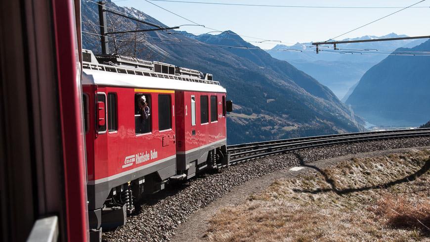Bild: Berninastrecke bei Alp Grüm