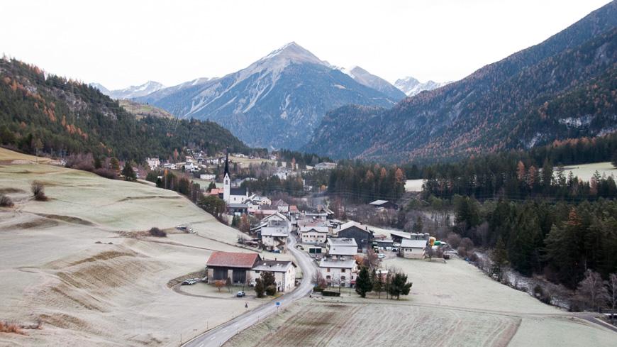 Bild: Raureif im Herbst in Graubünden