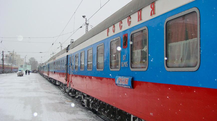 Bild: Rossija Express (Transsib) im Winter