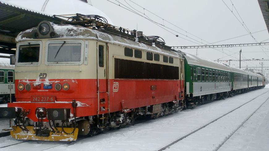 Bild: Tschechische Eisenbahn im Winter
