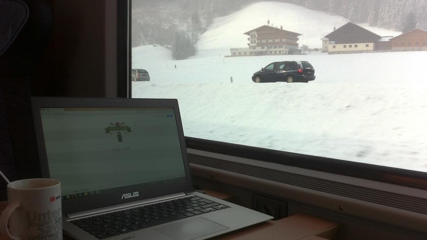 Bild: Zug bei Radstadt im Winter