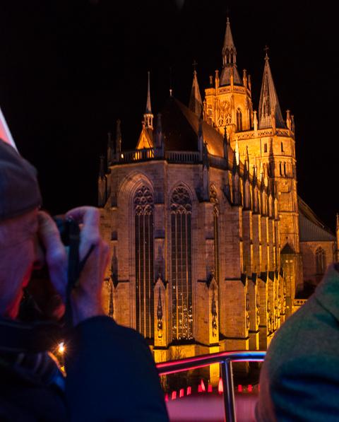 Bild: Erfurter Dom vom Riesenrad aus