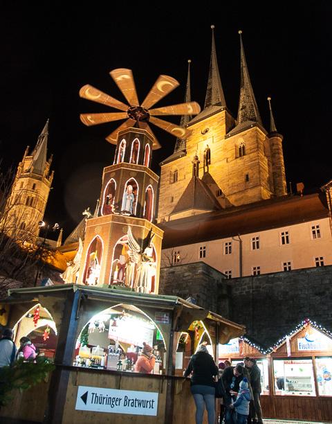 Bild: Weihnachtsmarkt Erfurt am Domplatz