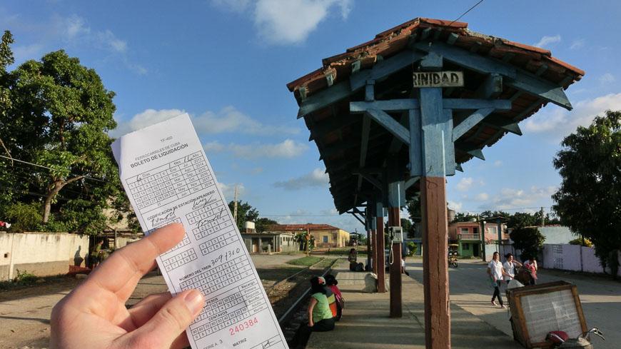 Bild: Fahrkarte für den Regionalzug in Trinidad