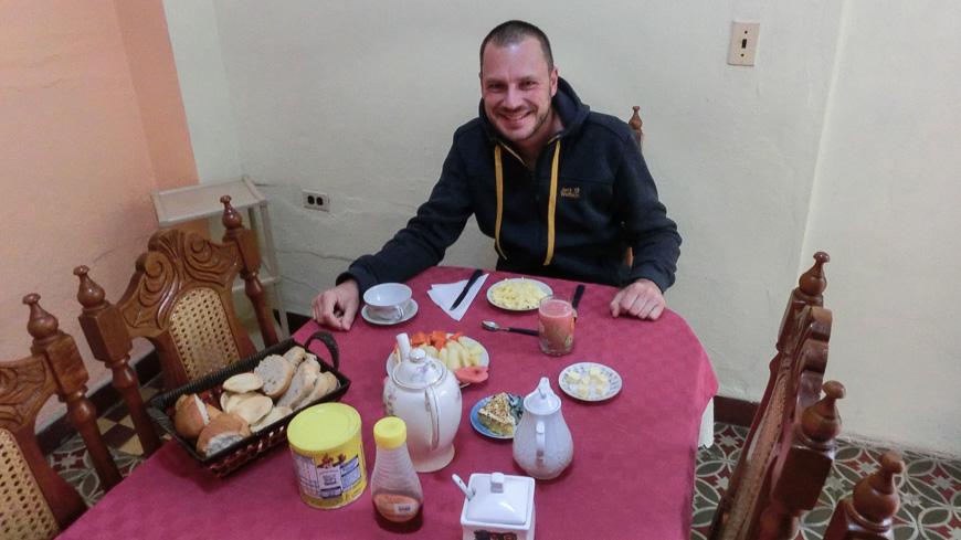 Bild: Frühstück in der Casa Particular Kuba
