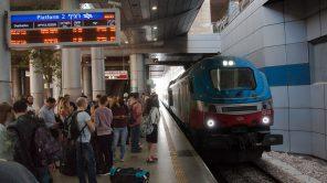 Bild: Ben Gurion Airport Tel Aviv - Bahnhof und Bahnsteig