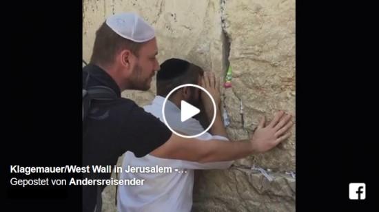 Bild: Live-Video von der Klagemauer in Jerusalem