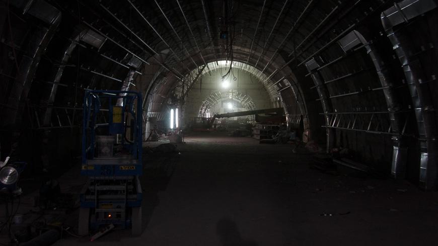 Bild: Baustelle Bahnhof Yitzhak Navon (HaUma) in Jerusalem