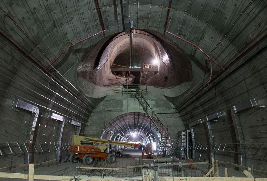 Bild: Baustelle Bahnhof Yitzhak Navon in Jerusalem
