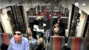 Bild: Video von einer Fahrt mit der Karmelit in Haifa