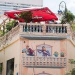 Café in der Nahalat Binaymin Straße in Tel Aviv