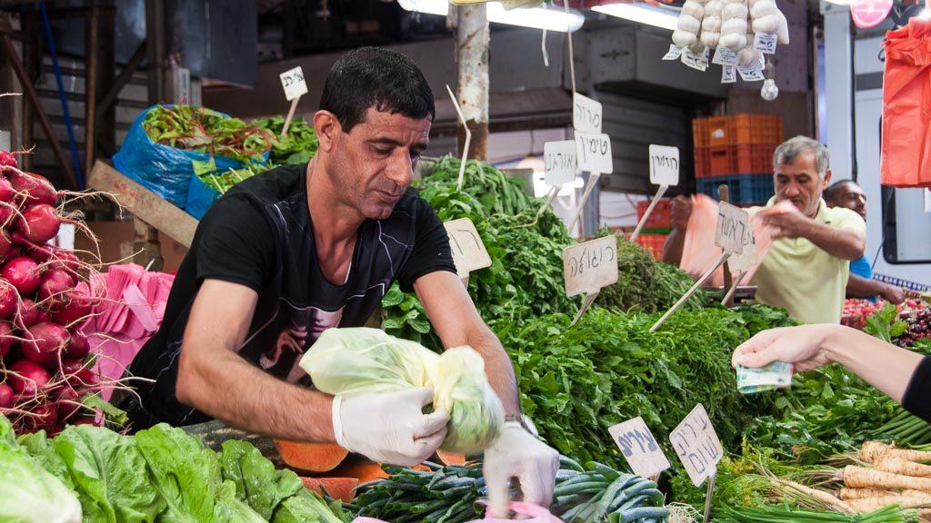 Gemüse am Carmel Markt