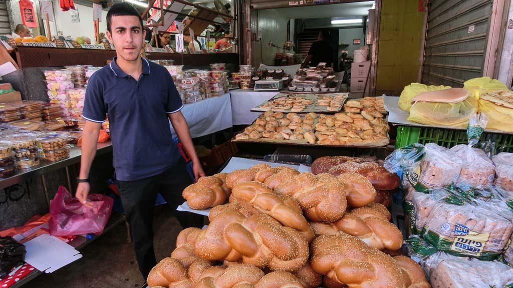Bild: Hefezopf am Carmel Markt in Tel Aviv
