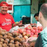Obststand am Carmel Markt in Tel Aviv