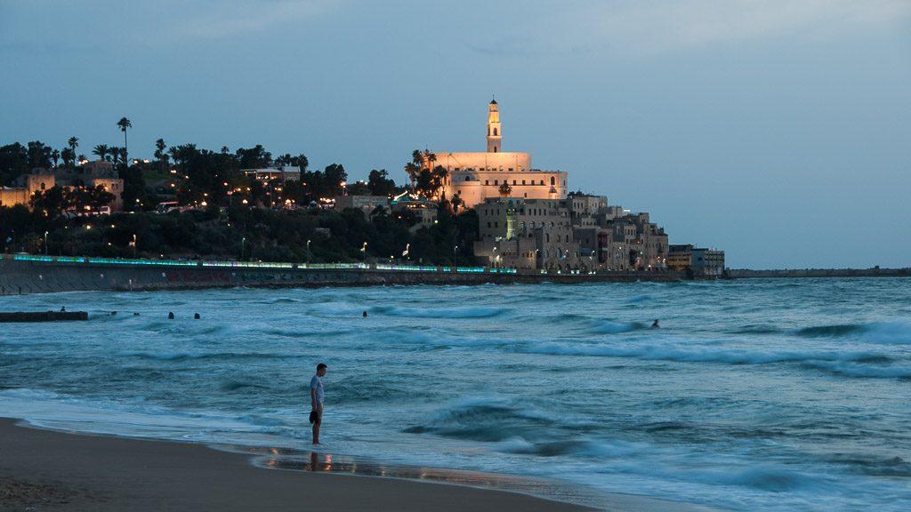 Jaffa am Abend zu Beginn des Sabbats