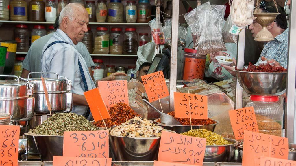Lewinsky Market in Tel Aviv