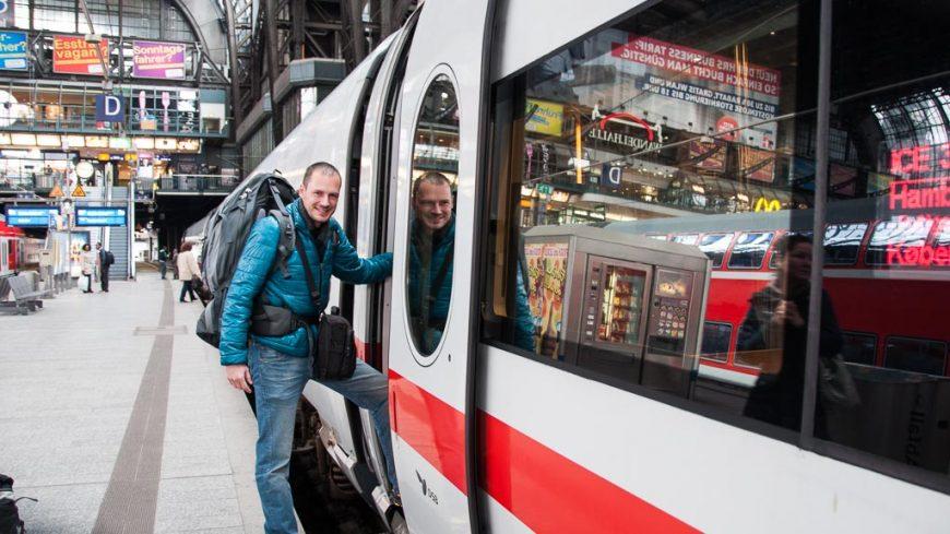 Beim Umsteigen am Hauptbahnhof Hamburg