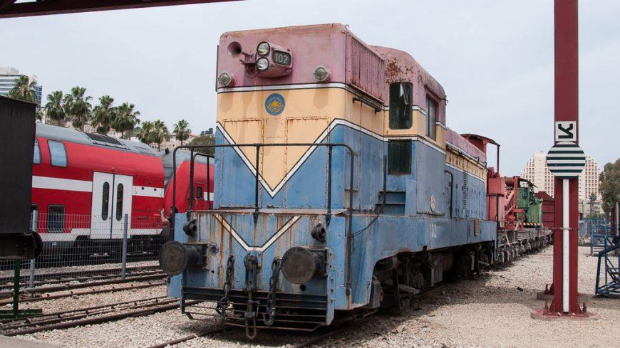Israelisches Eisenbahnmuseum 102er Diesellokomotive