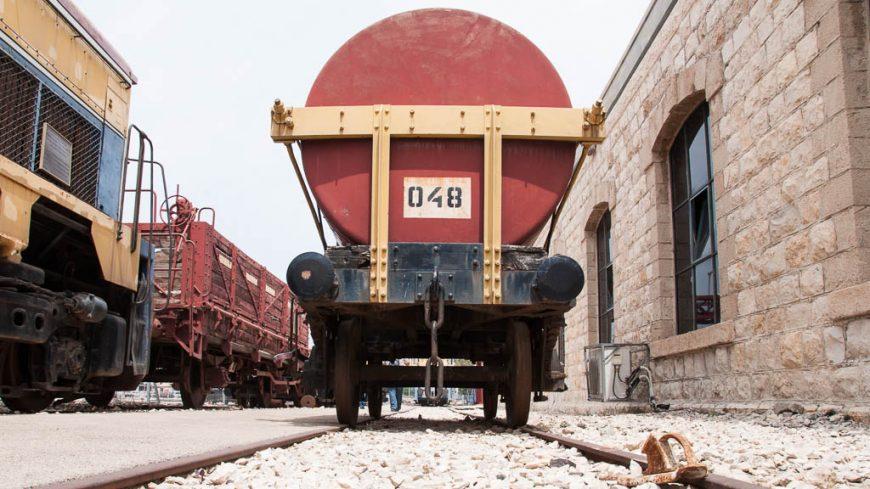 Güterwaggon im Israelischen Eisenbahnmuseum