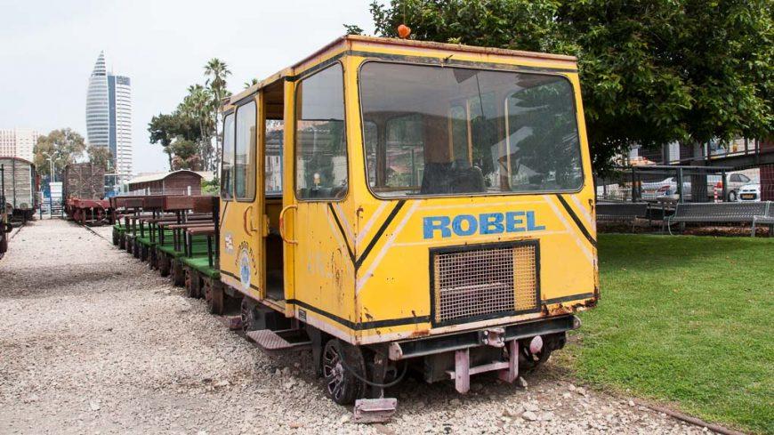 Robel Fahrzeug im Israelischen Eisenbahnmuseum