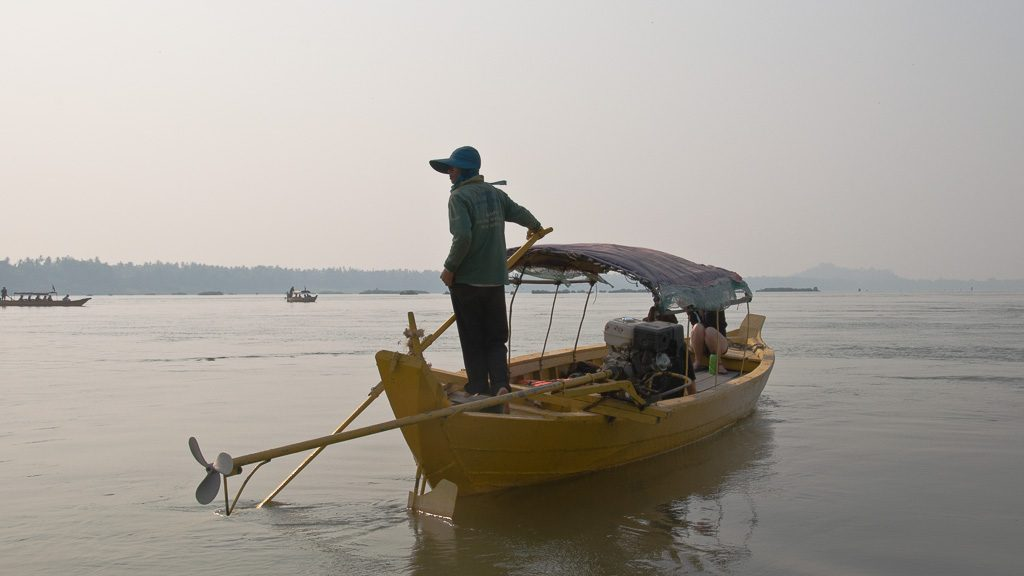 Boot am Mekong