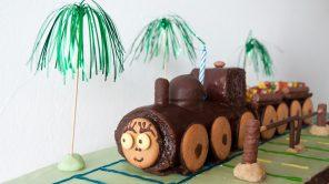 Zug-Torte zum Reiseblog-Geburtstag