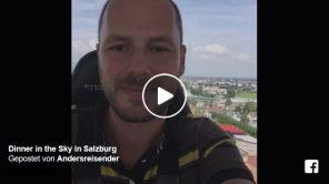 Live-Video Dinner in the Sky in Salzburg