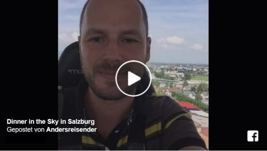 Live-Video Dinner in the Sky in Salzburg