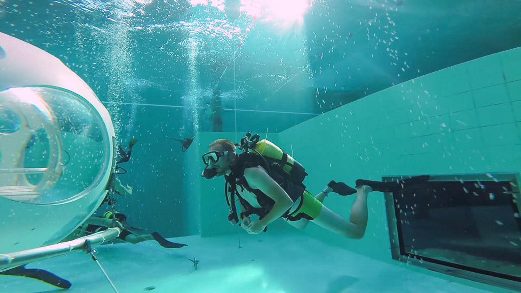 Nemo 33: Tauchen in einem der tiefsten Pools der Welt