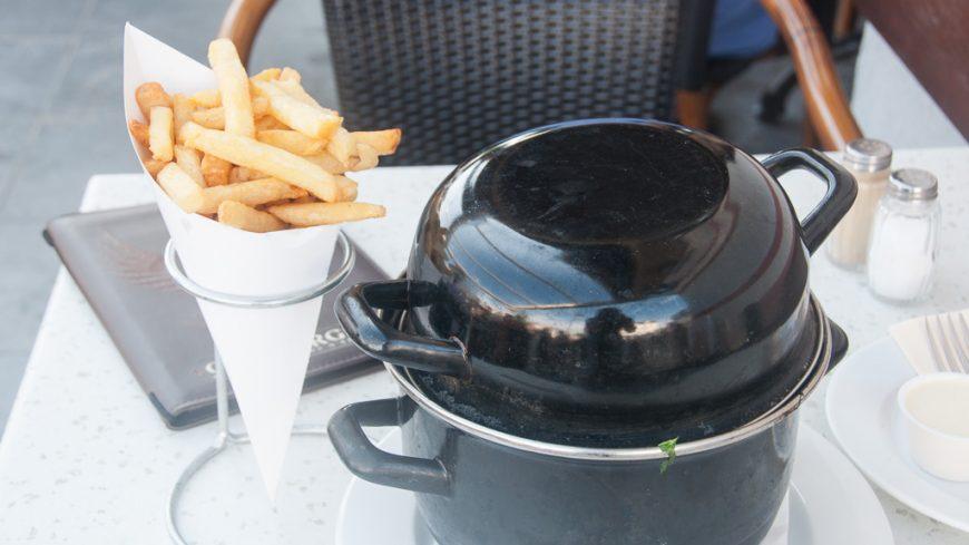 Muscheln im Hotel des Brasseurs in De Haan