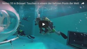 [Video] Nemo 33 in Brüssel: Tauchen  im 33-Meter-Pool