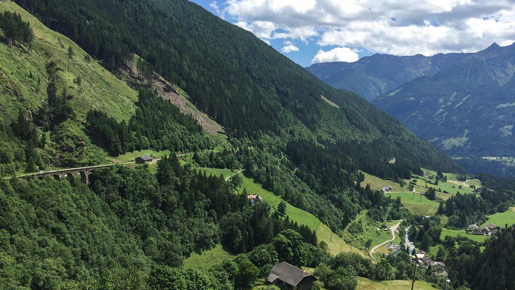 Blick von Mallnitz über das Mölltal