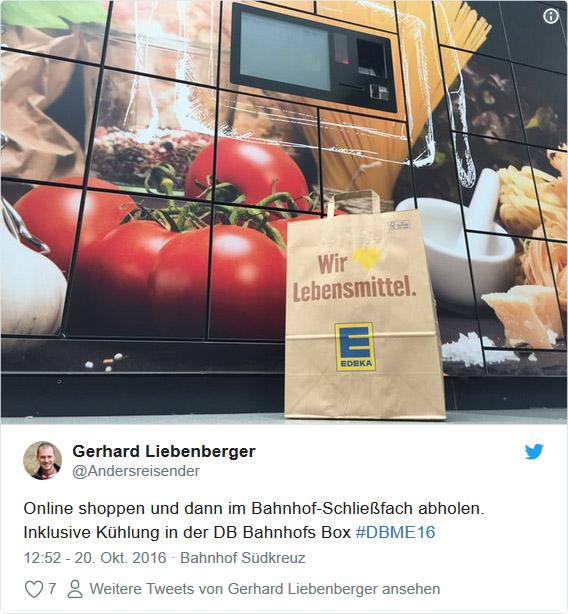 Twitter: #DBME16 Bahnhofs-Box in Berlin Südkreuz
