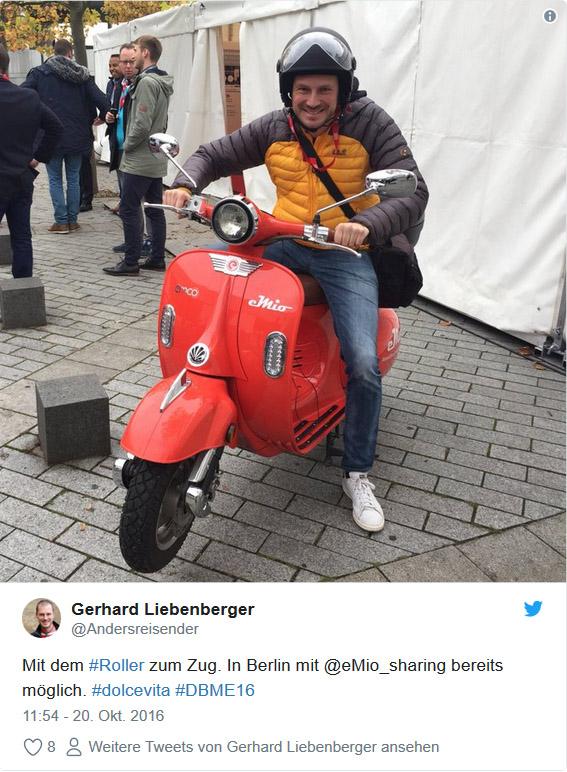 Twitter: #DBME16 Emio Roller in Berlin
