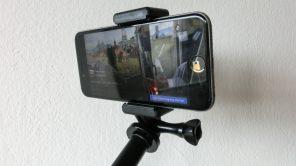 iPhone-Halterung am Selfiestick