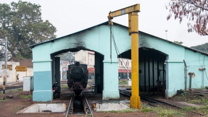 Lokschuppen in Mettupalayam (Mettupalaiyam)