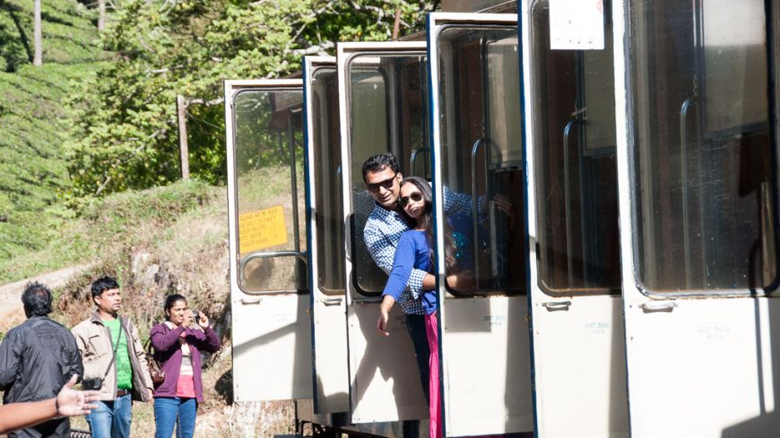 Betriebshalt bei der Nilgiri Mountain Railway