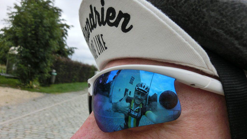 """Rennrad-Brille und Kappe """"Like a real Flandrien"""""""