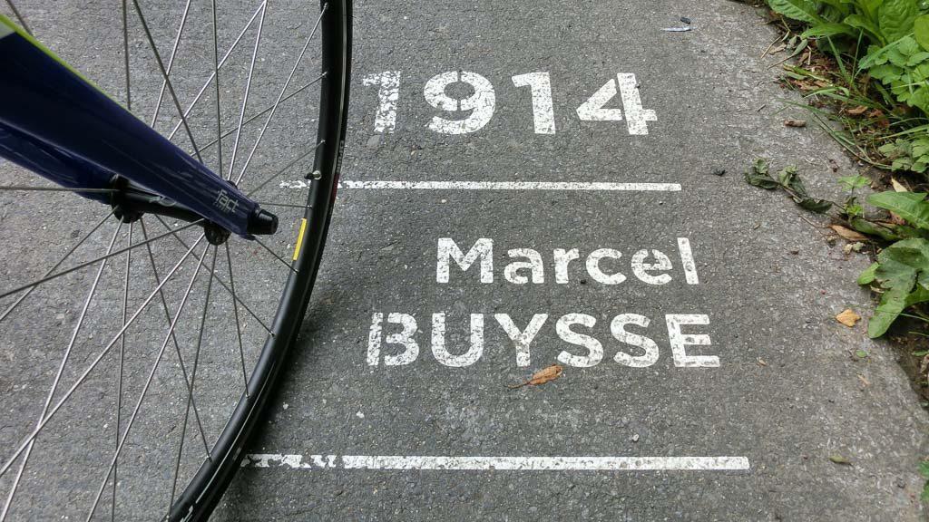 Ronde Van Vlaanderenstraat Straßenmarkierung 1914 Marcel Buysse