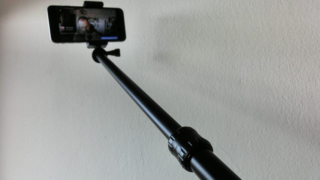 Sandmarc Pole mit Smartphonehalterung