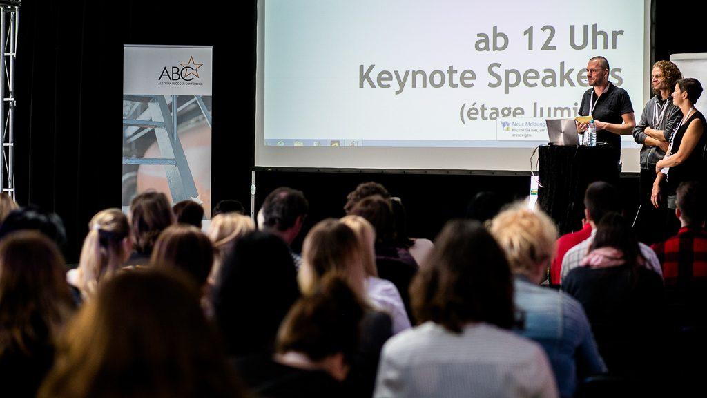 ABCstar Bloggerkonferenz 2016 Gerhard Liebenberger, Robert Bichler und Eva Gaderer (c) ABC/Elke Holzmann