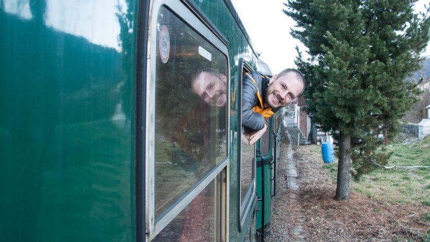 Gerhard Liebenberger im Dampfzug der Pinzgauer Lokalbahn (PLB)