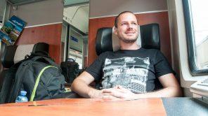 Gerhard Liebenberger im Zug