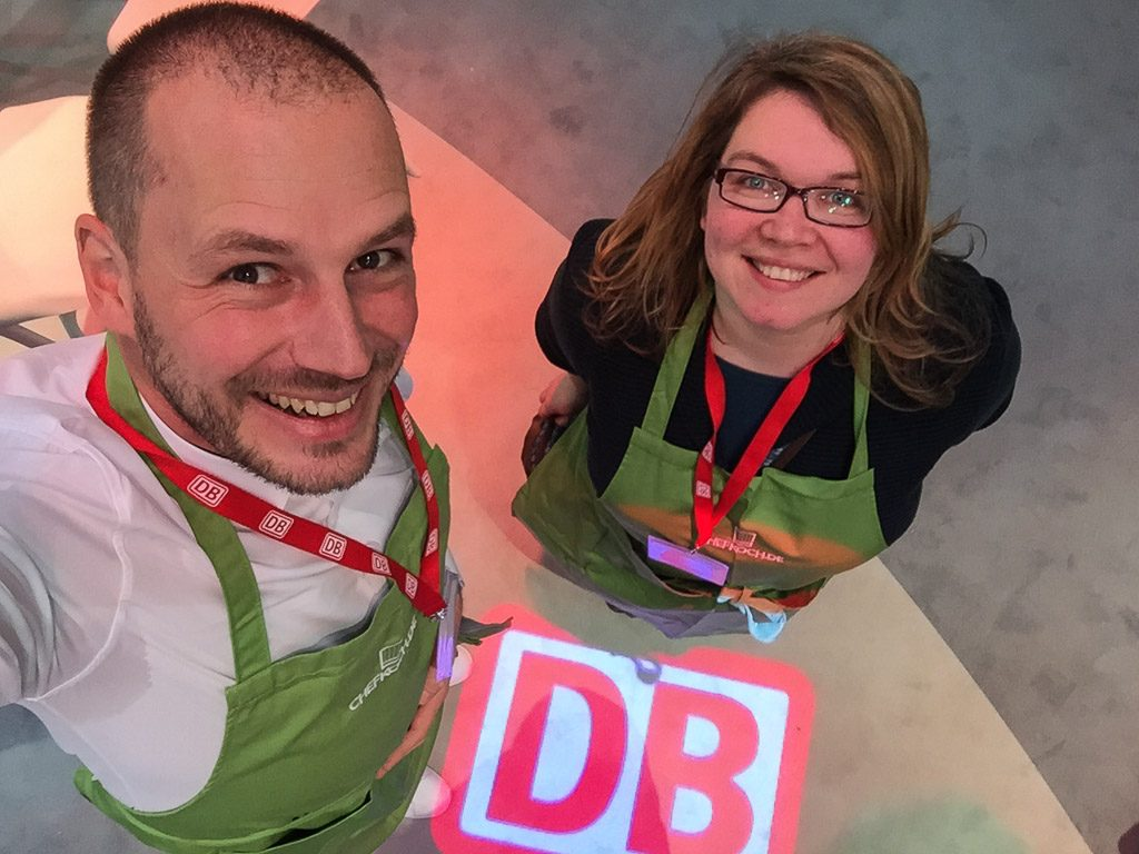 ITB - Deutsche Bahn #Pimpyourlunchbox gemeinsam mit Reiseblogger-Kollegin Janett Schindler von Teilzeitreisender.de