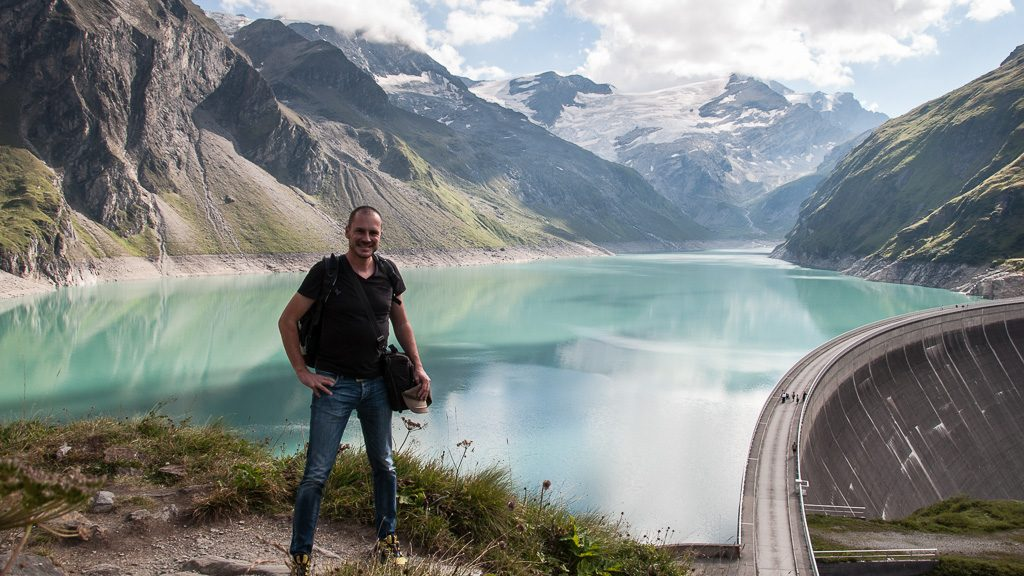 Gerhard Liebenberger bei den Kaprun Hochgebirgsstauseen