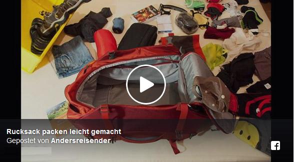 Rucksack packt sich selbst