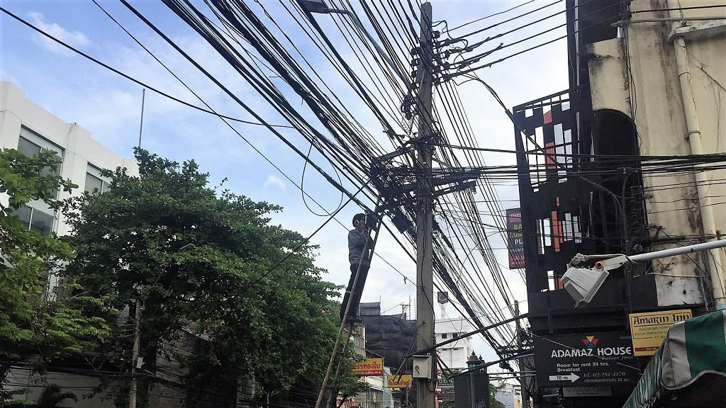 Bangkok - Stromkabel Service