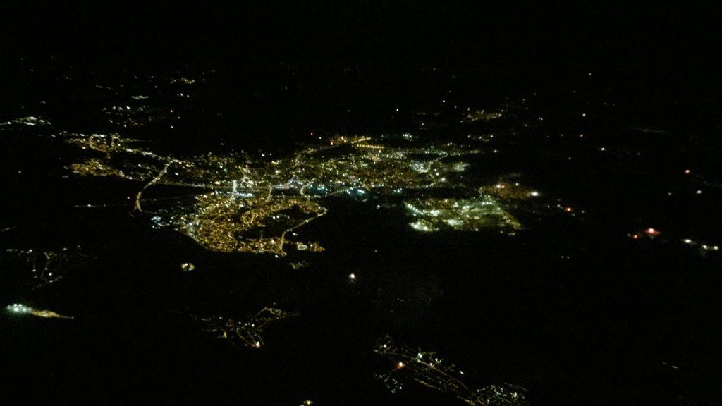 Feuerwerk vom Flugzeug aus