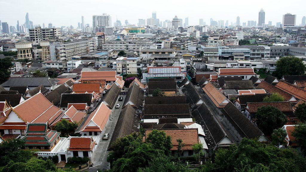 Blick auf Bangkok von oben vom Golden Mount Bangkok