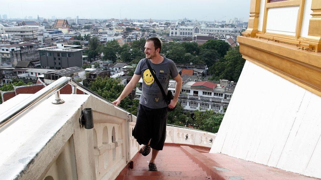 Gerhard Liebenberger am Weg zum Golden Mount Bangkok